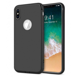 COQUE SILICONE IPHONE 11 SOFT TOUCH AVEC ROND NOIR SOUS BLISTER