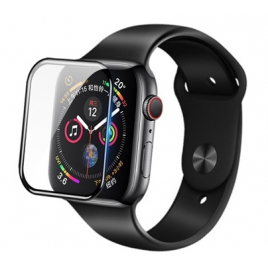 VERRE TREMPE APPLE WATCH 40 MM BORDS NOIR SOUS BLISTER