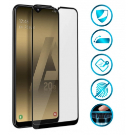 FILM SAMSUNG GALAXY A20 E VERRE TREMPE PREMIUM 5D BORDS NOIRS