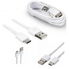 CABLE USB TYPE-C SAMSUNG ORIGINE EP-DN930CWE 1,2 M SYNCHRONISATION ET CHARGE BLANC VRAC