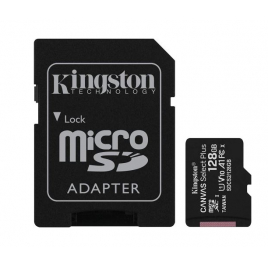 CARTE MEMOIRE 128 GIGA MICRO SD KINGSTON AVEC ADAPTATEUR 100 MB/S CLASS 10