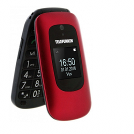 TELEPHONE MOBILE SENIOR TELEFUNKEN TM 250 COSI DOUBLE ECRAN ROUGE