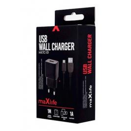 MAXLIFE CHARGEUR SECTEUR MICRO USB NOIR 1A