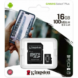 CARTE MEMOIRE MEMORY CARD MICRO SD 16 GIGA AVEC SUPPORT