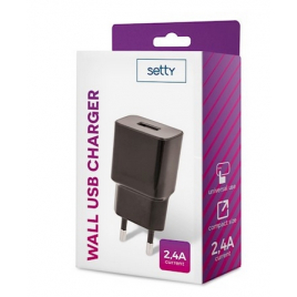 CHARGEUR USB 2,4A SETTY