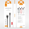 DATA CABLE LIGHTNING FAST CHARGE MC DODO 2,4A NOIR