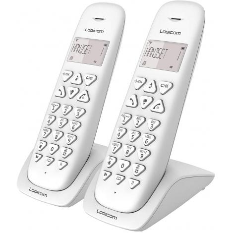 TELEPHONE SANS FIL LOGICOM VEGA 250 2 COMBINES MAINS LIBRES BLANC