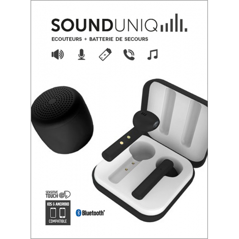 PACK ECOUTEUR + HP BLUETOOTH NOIR