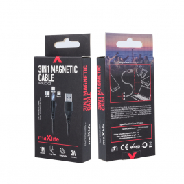 CABLE MAGNETIQUE 3 EN 1 MAXLIFE