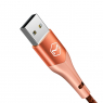 DATA CABLE LIGHTNING MC DODO ORANGE 1.2M 2A+LED