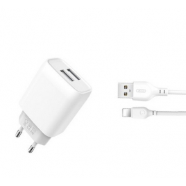 CHARGEUR POUR IPHONE / LIGHTNING / 2USB /2,4A XO