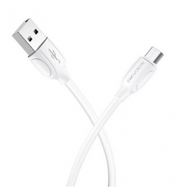 DATA CABLE BOROPHONE MICRO USB BLANC