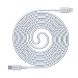DATA CABLE TYPE C / LIGHTNING DEVIA 18W FAST CHARGE