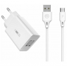 CHARGEUR SECTEUR 2USB TYPE C FASTCHARGE