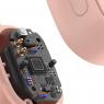 ECOUTEURS STEREO ROSE BASEUS WM01 PLUS + ECRAN LCD