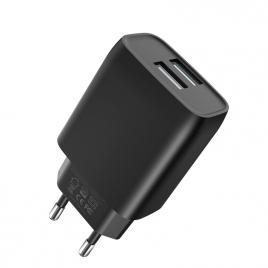 CHARGEUR 2 USB L57 XO 2.4A NOIR