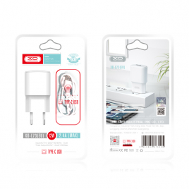 CHARGEUR USB + DATA LIGHTNING 2.4A BLANC 12W