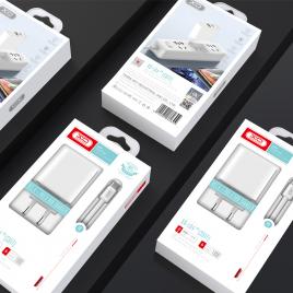CHARGEUR SORTIE USB+ TYPE C + DATA LIGHTNING / TYPE C
