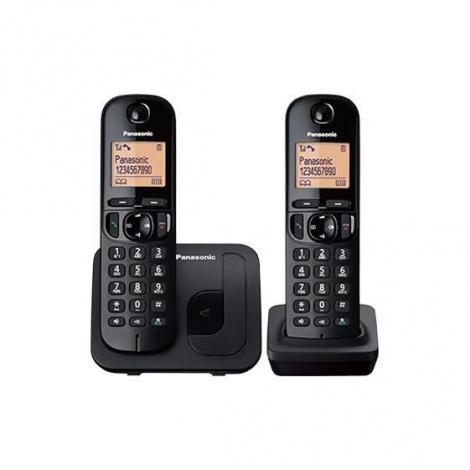 TELEPHONE SANS FIL DUO PANASONIC NOIR + REPONDEUR TGC 422