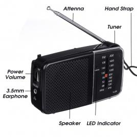 RADIO PORTABLE K258 FM/AM
