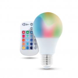 LAMPE LED E27 60EW + TELECOMMANDE