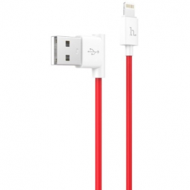 DATA CABLE LIGHTNING ROUGE COUDE HOCO