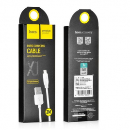 DATA CABLE LIGHTNING 2 METRES BLANC HOCO FAST CHARGE