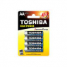 PACK DE 4 PILES AA TOSHIBA ALCALINE